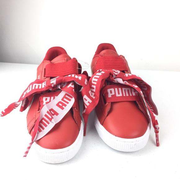puma ribbon lace sneakers
